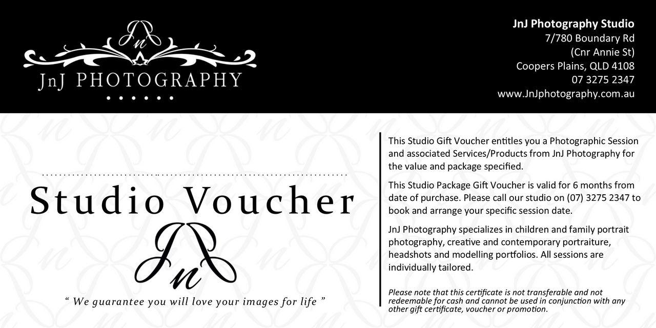 Studio Package Gift Vouchers - JnJ Photography